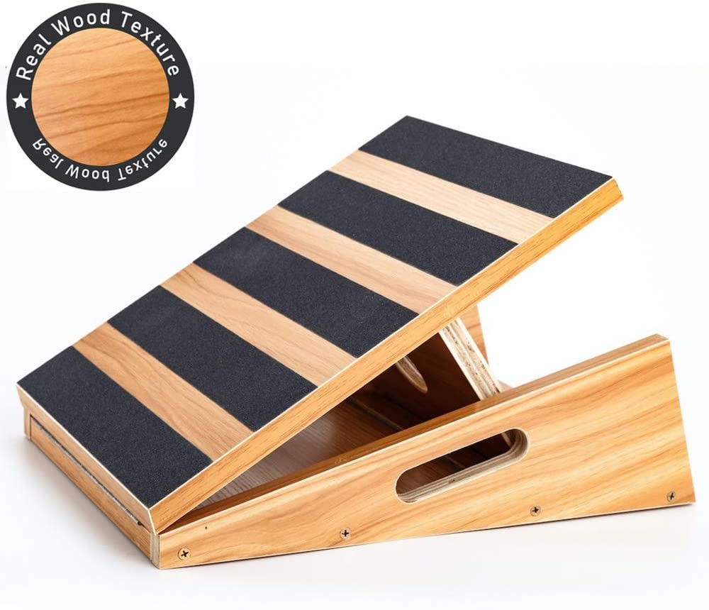 Professional Wooden Slant Board Adjustable Incline Board And Calf Stretcher Stretch Board